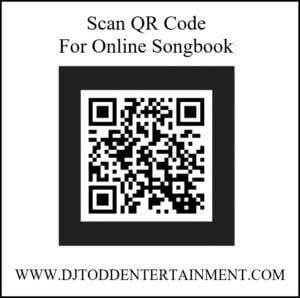 QR code for online karaoke book